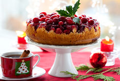 Cranberry Upside Down Cake Stock Photo