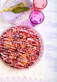 Cranberry upside down cake Royalty Free Stock Photo