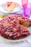 Cranberry upside down cake Royalty Free Stock Photos