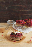 Cranberry Upside down Cakes Stock Photo