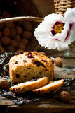 Cranberry and walnut bread baked in the bread machine Royalty Free Stock Photography