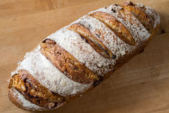 Cranberry Walnut Bread. A loaf of fresh cranberry walnut bread stock photo