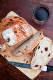 Cranberry and walnut bread Royalty Free Stock Images