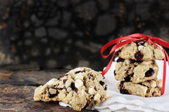 Cranberry and White Chocolate Chip Cookies Royalty Free Stock Image