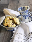 Cranberry and white chocolate cookies Stock Images