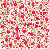 Cranberry wzór Zdjęcia Royalty Free