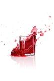 cranberryfärgstänk Fotografering för Bildbyråer