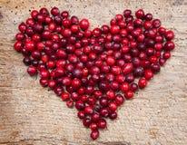 cranberryhjärta Arkivbilder