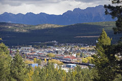 Cranbrook, British Columbia, Canada. Canadian Rockies and Cranbrook at fall Royalty Free Stock Images