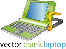 cranck笔记本 免版税库存照片
