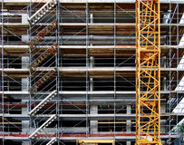 Crand and scaffolding Royalty Free Stock Images