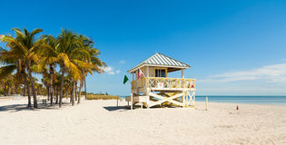 Crandon Park Beach royalty free stock photography