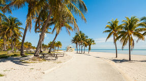 Crandon Park Beach royalty free stock photo
