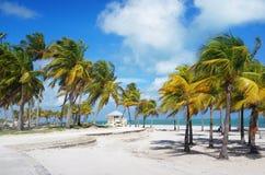 Crandon parkerar stranden av Key Biscayne, Miami royaltyfri fotografi
