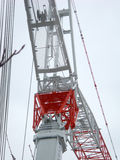 Crane 009. A detail view of a mobile crane Stock Photography