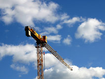Crane. In the background of sky Royalty Free Stock Image
