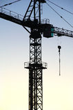 Crane. On a construction side Royalty Free Stock Image