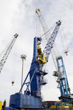 Crane. Isolated crane for ships at the port Royalty Free Stock Photography