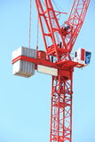 Crane. Image of a crane on a building site Stock Images