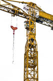 Isolated yellow crane Royalty Free Stock Images
