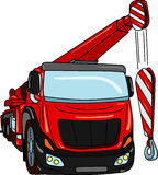 Crane. Vector - truck mobile crane isolated on background Royalty Free Stock Images