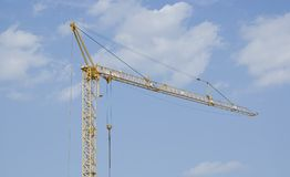 Crane. Against the blue sky Royalty Free Stock Images