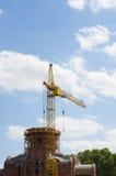 Crane. Construction crane over blue sky Royalty Free Stock Photos