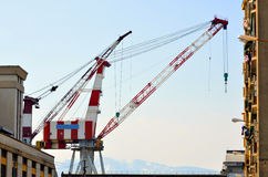 The crane. A crane in the port of Genoa Italy Stock Photography