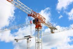 Crane. The crane in the sky Royalty Free Stock Photos