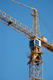 Crane. For construction in blue sky background Stock Image