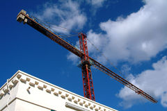 Crane. And building Stock Photography