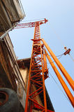 Crane. On a construction site,close up Stock Photo