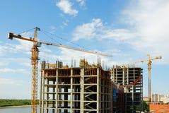 Crane. Construction crane.Work place. Building Royalty Free Stock Images