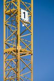 A crane. In the blue sky Stock Images