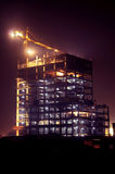 Crane. Building Cranes in Twilight purple royalty free stock photos