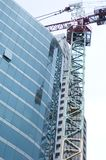 Crane. A Construction Site With a Building Crane Royalty Free Stock Photo