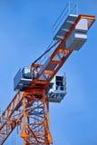 Crane. Machine cabin operator details of a crane Stock Image