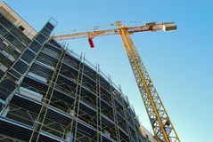 Crane. On a construction site with blue sky Royalty Free Stock Photography