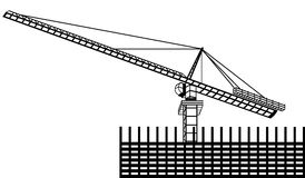 Crane. And house under construction Stock Photo