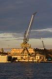 Crane. Ocean port crane Stock Photo