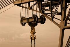 Crane. Steel crane (building a bridge Stock Image