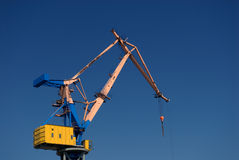 Crane. In the harbor from Hamburg, germany Stock Image