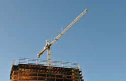 Crane Above Building Royalty Free Stock Photo