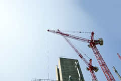 Crane above construction sites Stock Photography