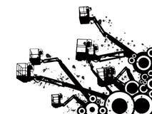 crane abstrakcyjne ilustracji