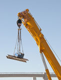 Crane in action Stock Images