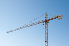 Crane against blue sky Stock Images