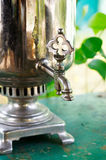 Crane antique samovar Stock Images