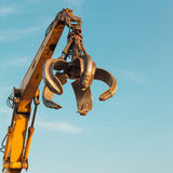 Crane arm with open claw Royalty Free Stock Image