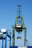 Crane At Container Harbor Royalty Free Stock Photography